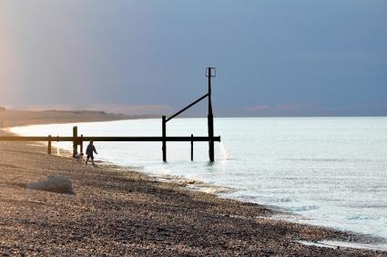 Zur zweit am Meer, Weybourne, Norfolk, Foto: Hanne Siebers