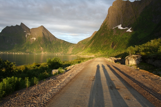 The four cyclists on Senja.