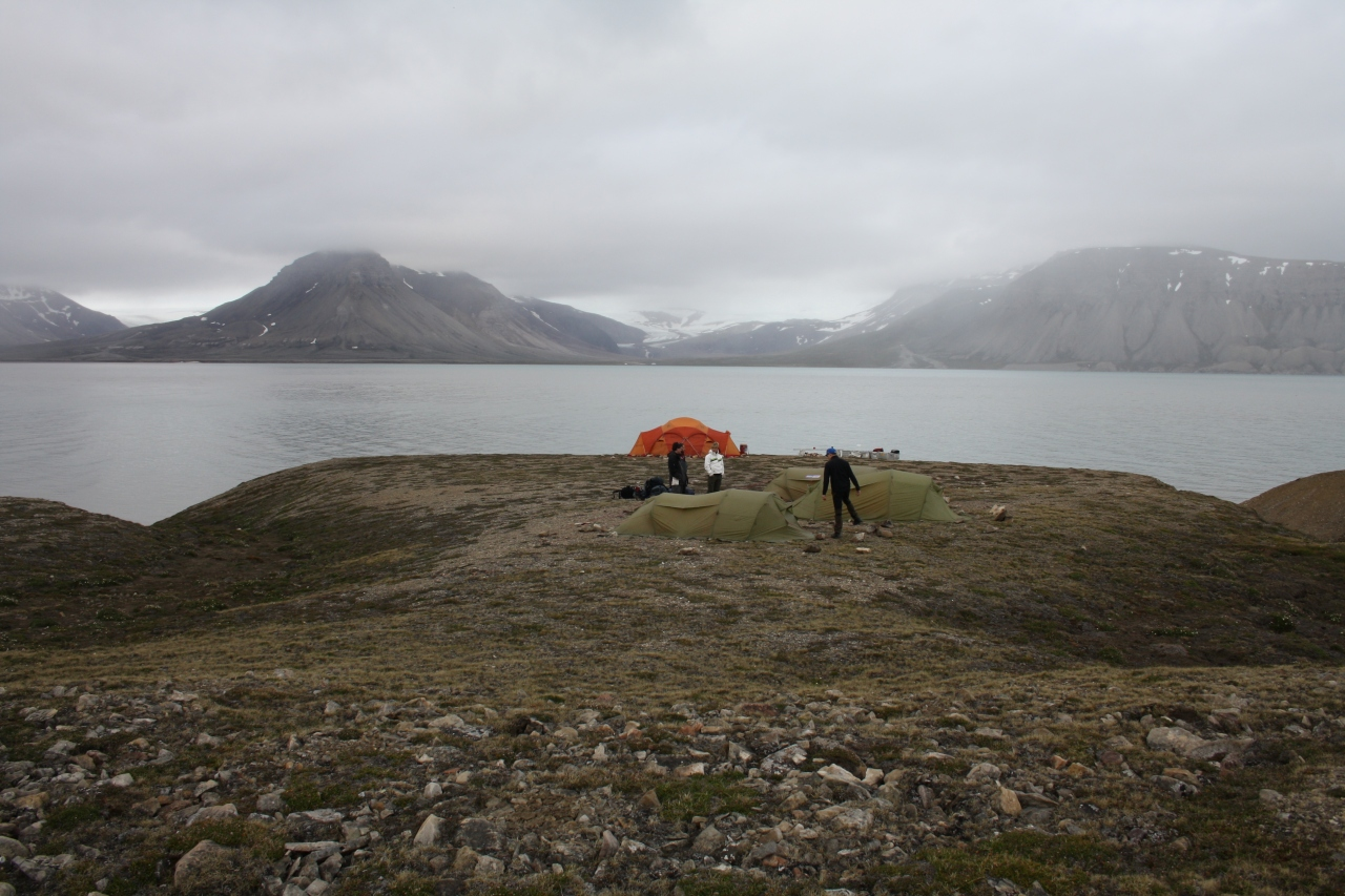 Base camp on Svalbard
