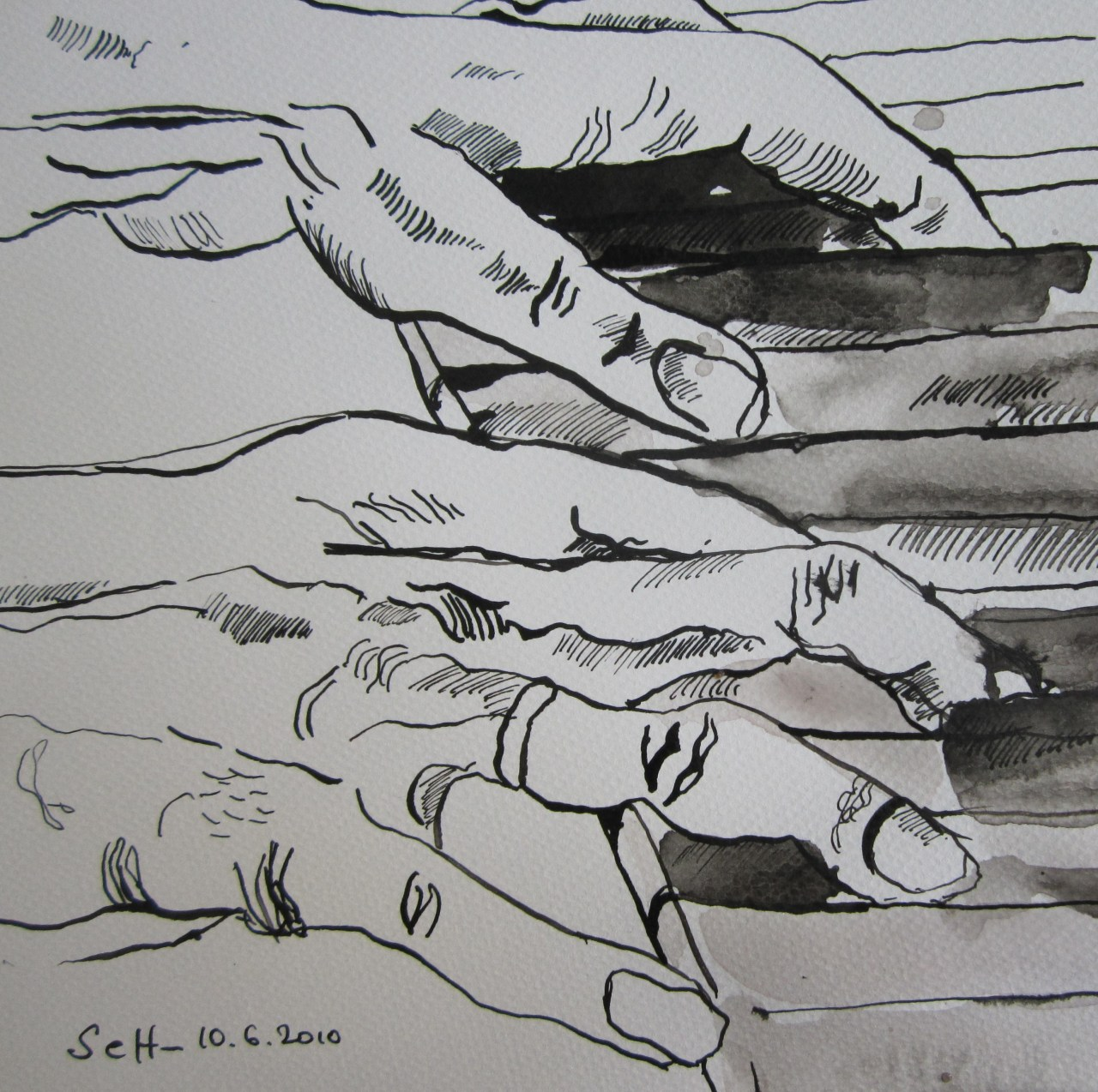 Klavierhände (c) Zeichnung  von Susanne Haun (2)