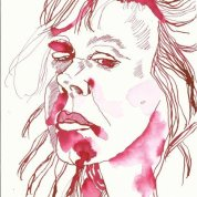 Susanne Haun Selbstporträt am späten Abend