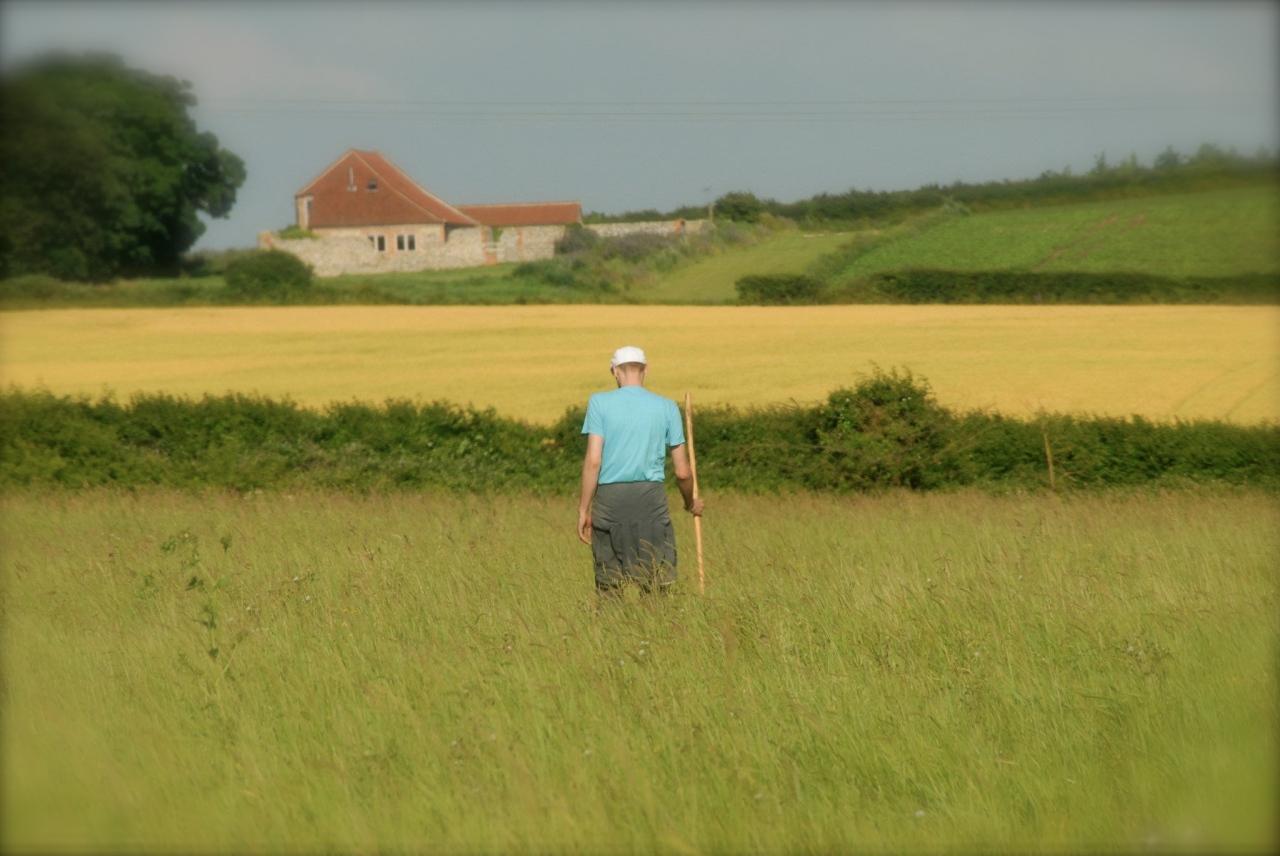 Gerrit A. walking in Cley, 2012