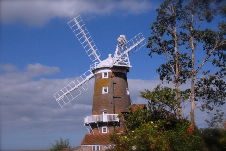 "The famous Cley Mill, Cley next the Sea, Norfolk. This is where ""Circe"" is moored."