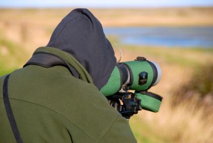 Birdwatcher, Eastbank, Cley, Norfolk Photo: Hanne Siebers