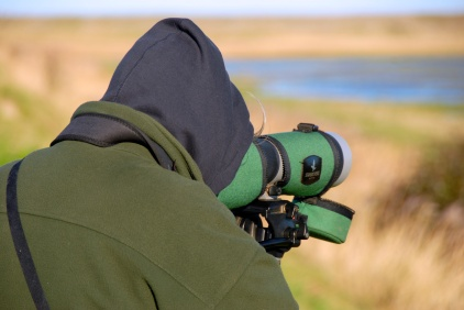 Birdwatcher, Eastbank, Cley, Norfolk Photo: Hanne Siebers
