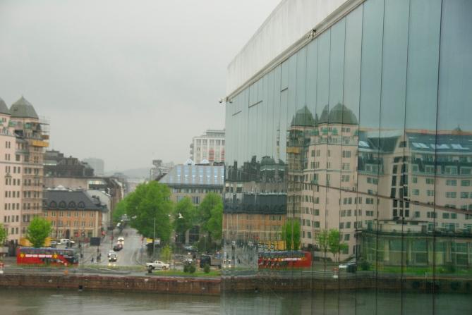 DSC_0100 Mirrorreflexiosn, Oper haouse, Oslo, Norway Foto: Hanne Siebers