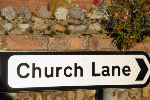 Church, Lane, Cley, Norfolk, Coast Path, Foto: Hanne Siebers