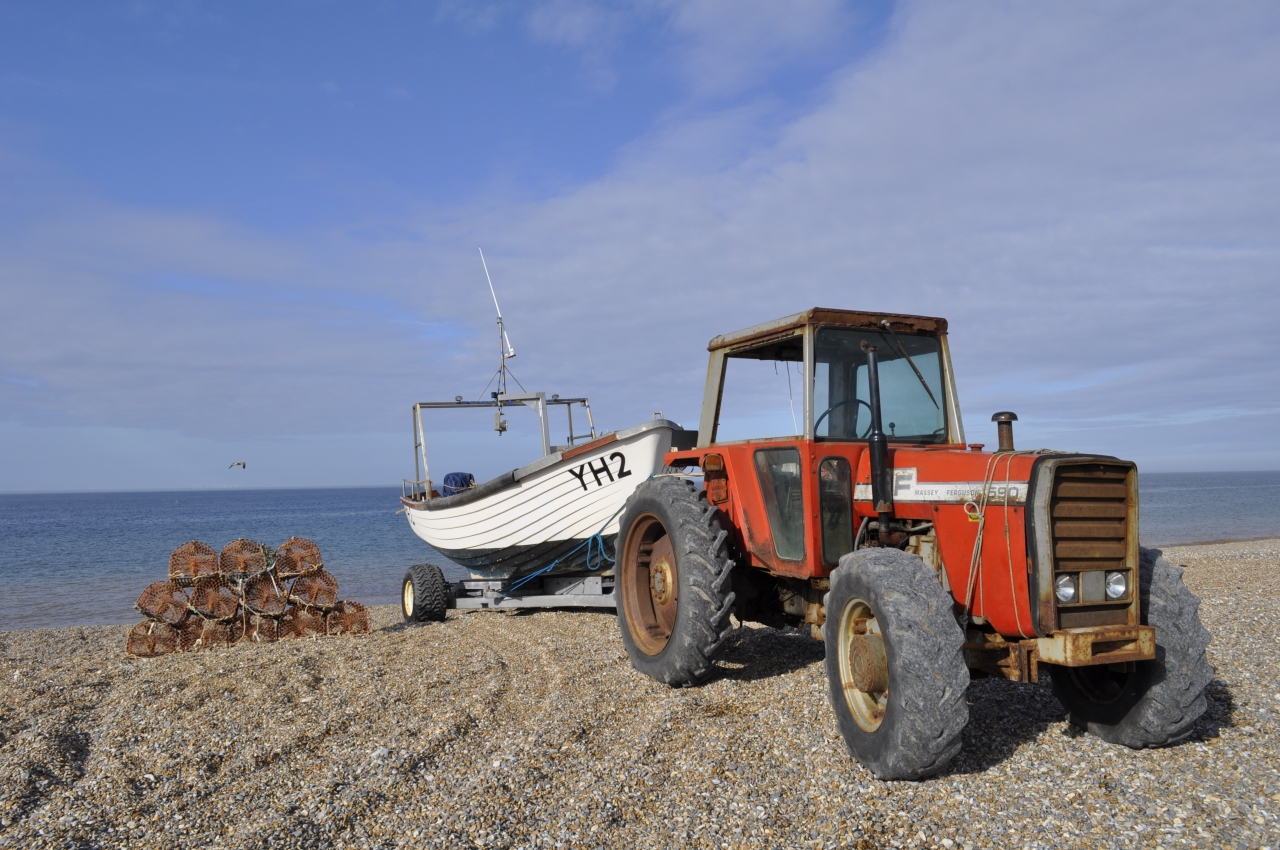 Crabpots on Cley Beach, Norfolk, Foto: Klausbernd Vollmar, 2013