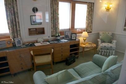 Das Büro der Königin. Her Majesty's office.