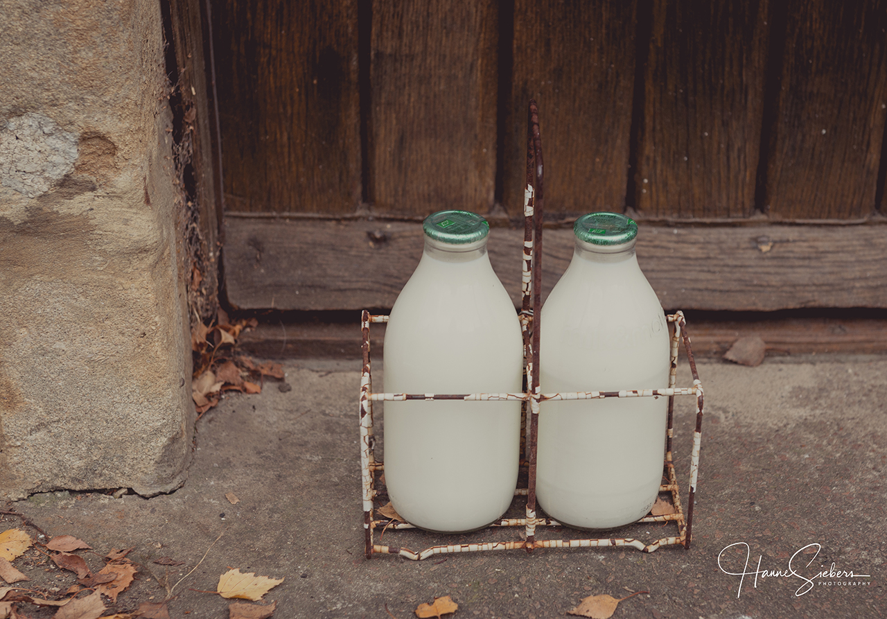 Is the milk bottle old-fashioned?   The World according to Dina